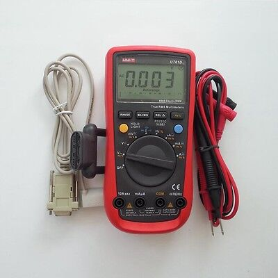 Uni-t Ut61d Trms Tester Digital Multimeter Ac Dc Meter Analog Bar Rs232 Usb Inte
