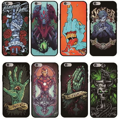 Halloween Skull Case for iPhone 6 6s 7 8 Plus Rubber Cover XS Max XR X - Iphone 6 Halloween