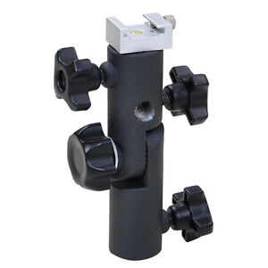 Flash Hot Shoe Mount Umbrella Holder Bracket Speedlite Screw Adapter Light Stand
