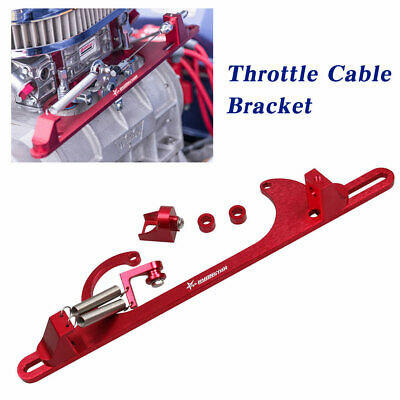 Throttle Cable Carb Bracket For 4150 4160 Series Carburetor Red Aluminum