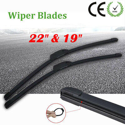 "22""/19"" Windshield Wiper Blades Premium Hybrid silicone J-Hook OEM High Quality"