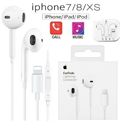 Genuine Apple EarPods Earphones For iPhone 7 Plus/8/X XR etc.Lightning Headset