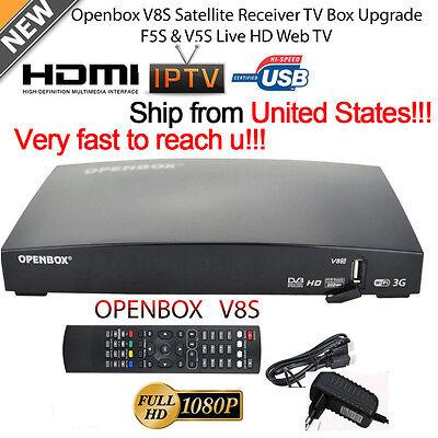 Openbox V8S Digital Satellite Receiver Support 2xUSB USB Wifi WEB TV Biss Key US