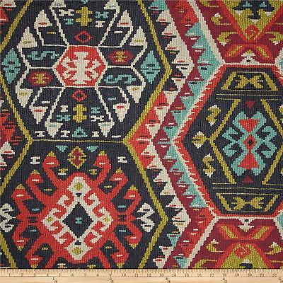 Longrock Fiesta Home Decor Fabric by P Kaufmann, Faux Kilim Print Fabric Yardage for sale  Shipping to Nigeria