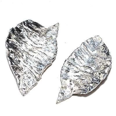 JEAN PIERRE BIBARD Earrings Silver Plated Modernist Jewel Earring