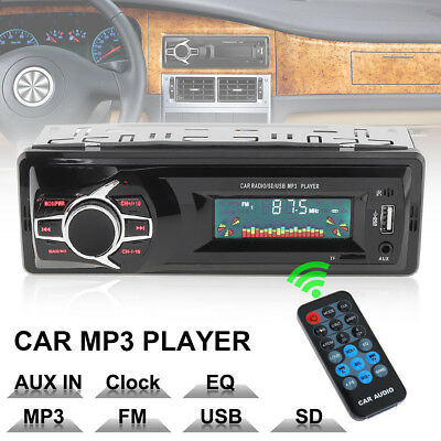12V LCD Car Stereo In-dash Aux Input Receiver Radio Player F