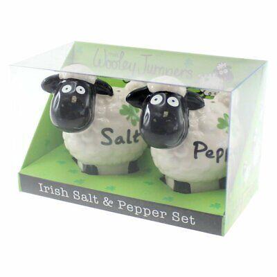 Salt and Pepper Set Wooley Jumper Ceramic 7cm H Home Blessing Best Irish