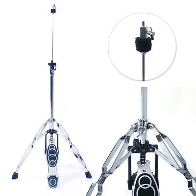 High Cymbal - New Drum High Hat Cymbal Stand Double Braced Chrome Parts Accessories