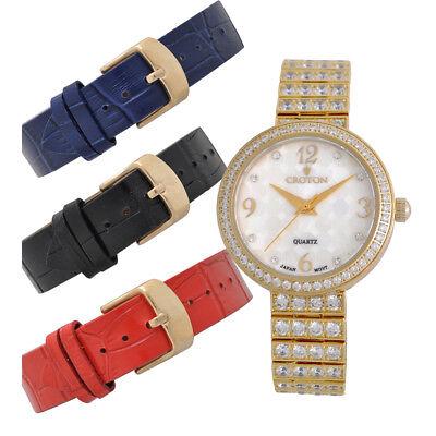Croton Women's CN207555YLMP Quartz Crystals Interchangeable Bands 32mm Watch