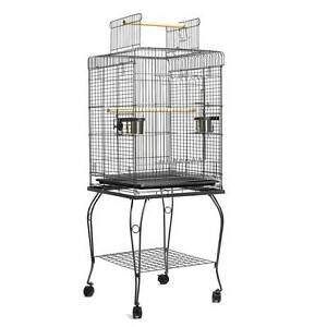 Parrot Pet Aviary Bird Cage w/ Open Roof 145cm Black Silverwater Auburn Area Preview