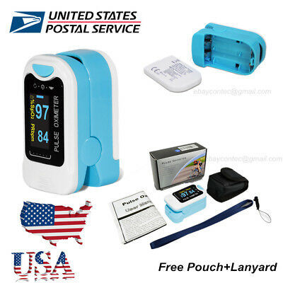 Finger Tip Pulse Oximeter Spo2 Heart Rate Monitor Blood Oxygen Meter Sensor Usa