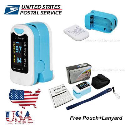 Finger Oximeter - Finger Tip Pulse Oximeter SpO2 Heart Rate monitor blood oxygen Meter Sensor, USA