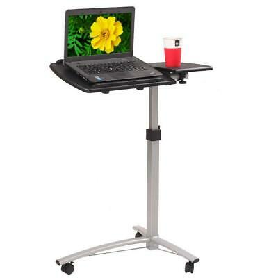 Adjustable Height Computer Laptop Table Rolling Sit-stand Notebook Desk
