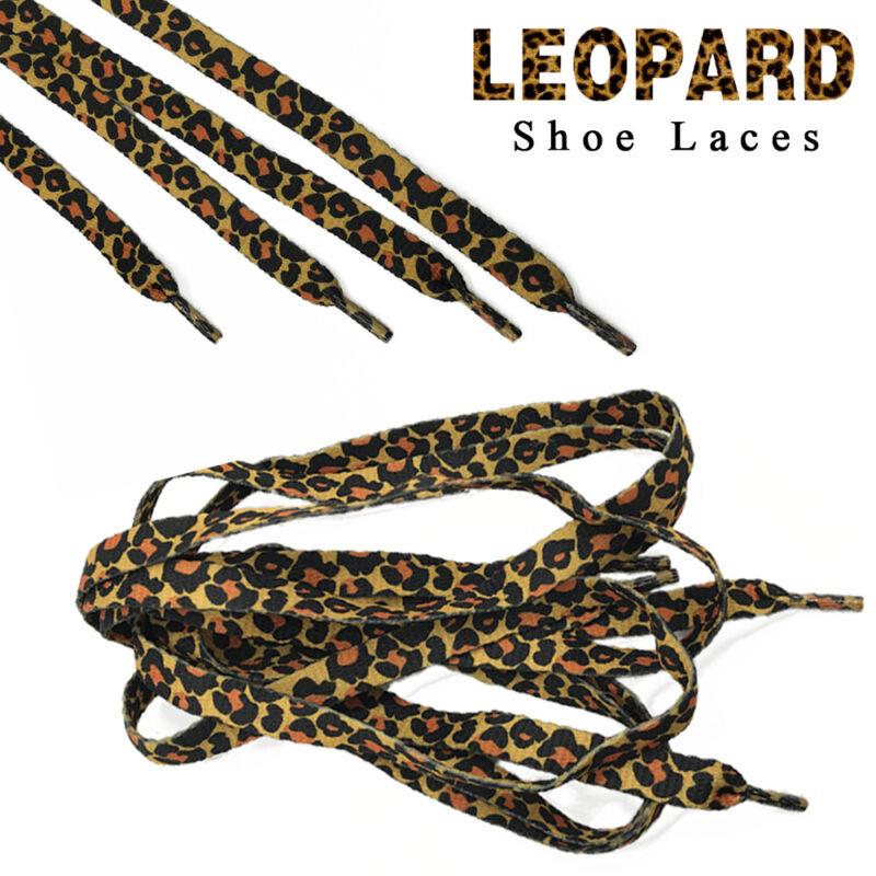 Classic Leopard Print Shoelaces Flat