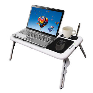 New-Laptop-USB-Folding-Table-w-2-Cooling-Fan-Mouse-Pad