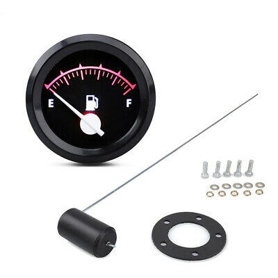 2'' 52mm 12V LED Car Fuel Level Gauge Meter with Sensor E-F Pointer Indicator