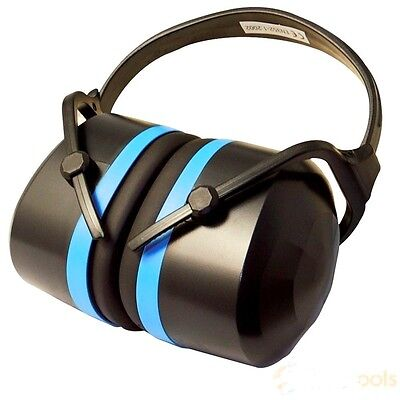 Silverline Expert Folding Ear Defenders 33dB Hearing Protection Muffs Folding