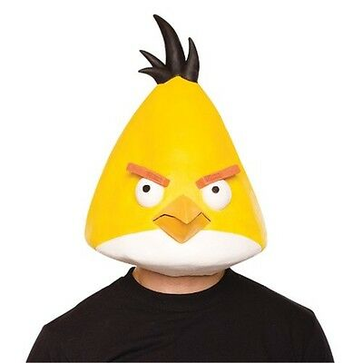 Angry Birds Yellow Bird Latex Adult - Angry Bird Masks