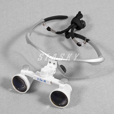 Dental Portable Medical 3.5x Binocular Loupes Magnifier Surgical Glasses 420mm