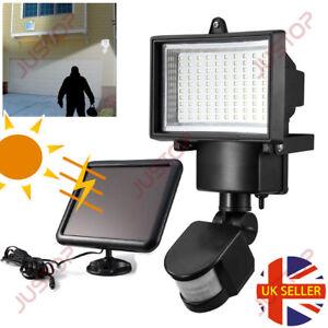 Led outdoor lights pir ebay 100 led bright solar powered pir sensor flood security light outdoor garden wall workwithnaturefo