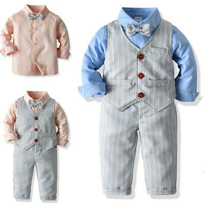 Kids Party Outfit (Kids Baby Boys Outfit Party Wedding Tuxedo Suit Birthday Dress Up Clothes)