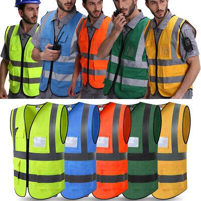 Us Hi-vis Visibility Security Work Vest Reflective Safety Jacket Tops Coat L-xxl