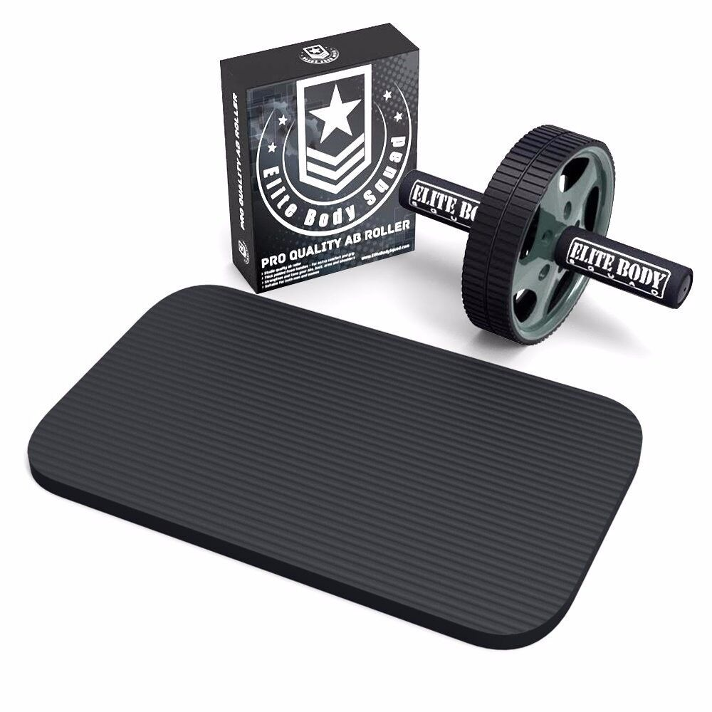 New Ab Roller with Soft Kneeling Mat. Roll your way to a 6 pack!