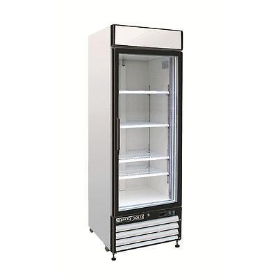 Maxx Cold Mxm1-23r Reach In Cooler Single Glass Door Refrigerator Merchandiser