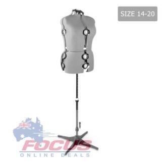 Adjustable Dressmaking Mannequin SZ14-20 - Grey
