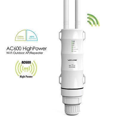 Wavlink High Power Ac600 Wireless Outdoor Ap Repeater Network Range Extender