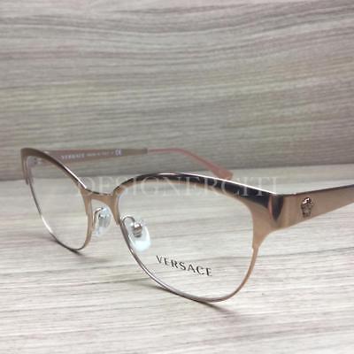 Versace 1240 Eyeglasses Metal Rose Gold 1396 (Versace Rose)