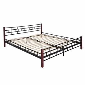 Super king-size bed, mattress and bedding