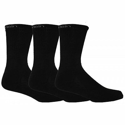 Calvin Klein 3-Pack Ultimate Coolmax Athletic Socks, Black