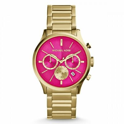 MIchael Kors MK 5909 Bailey Chronograph Pink Dial Gold-tone Ladies Watch