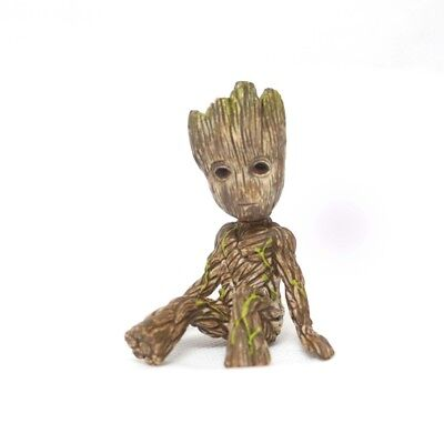 Baby Groot Figure Guardians of The Galaxy 2 Tree Man Baby Sitting Model Toy Gift