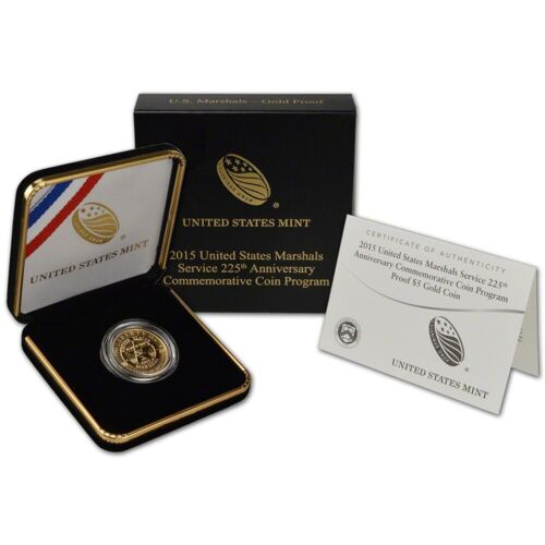 2015-W US Marshals $5 Gold Proof w/OGP