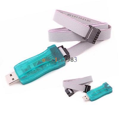 USBASP USBISP AVR Programmer Adapter 10 Pin Cable  USB ATMEGA8 ATMEGA128 Arduino (Avr 8 Pin)