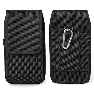 black nylon holster belt clip case