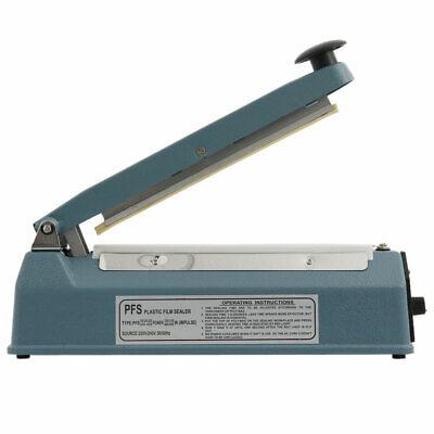 12 450w Hand Impulse Heat Sealer Plastic Bag Film Sealing Machine Metal Abs