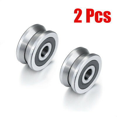 2pcs V Groove Ball Bearings Sealed Guide Pulley Track Roller 8 X 30 X14mm