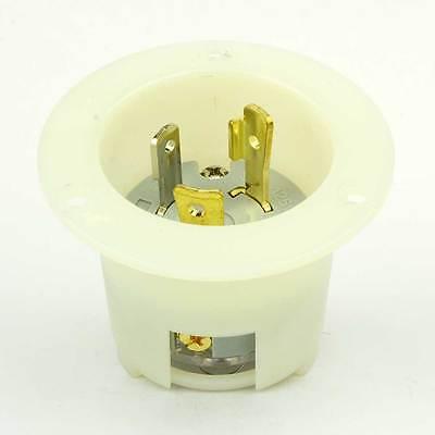 Twist Lock Flanged Inlet 3 Wire 30 Amps 125v Nema L5-30p - Ygf168
