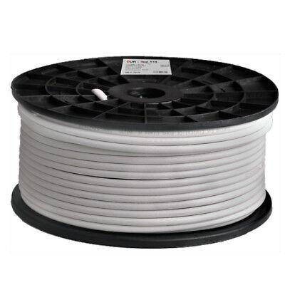 DUR-line DUR 110-100 Koaxialkabel | 100m-Rolle SAT-Digitalkabel, 7mm, 4-fach ge Ge Digital Kabel