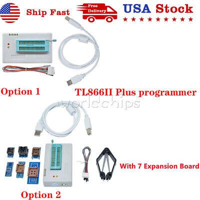 Usb Tl866ii Plus Programmer Eprom Eeprom Flash Minipro 7 Expansion Board