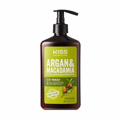 Kiss Argan & Macadamia Co Wash for Dry & Damaged Natural Hair 13.5 fl.oz
