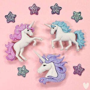 DRESS IT UP Buttons Magical Unicorns 9357 - My Little Pony Fairies Princess