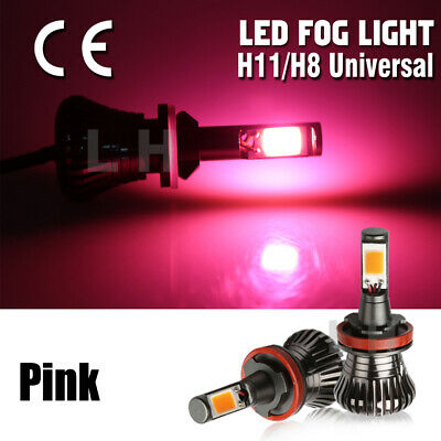 H8 H9 H11 Pink 80W 6500K LED Fog Light Car  Driving Lamp DRL High Power Bulbs