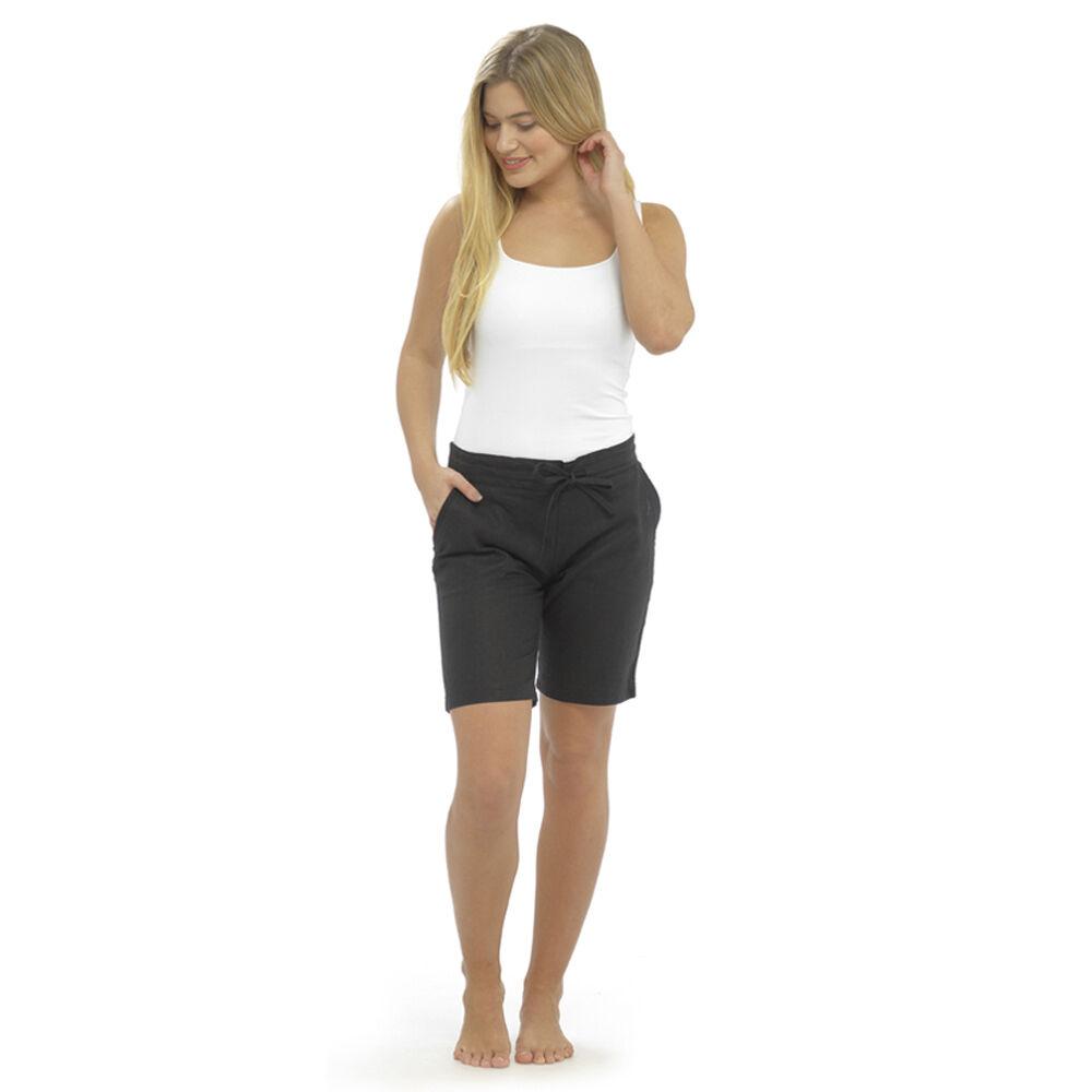 Nouveau femme m/&s Femme Kaki en Lin Vacances Plage Été Short Taille 10
