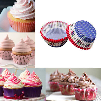 100Pcs Fine Chocalate Paper Liners Baking Muffin Cake Cupcake Cases Solid Color (Cupcake Papers)