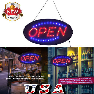 19x10 Ultra Bright Animated Led Open Store Shop Business Sign Neon Lights