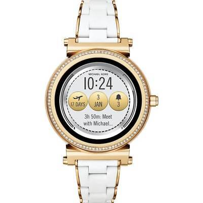Sealed Michael Kors Womens Access Sofie Gold White Silicone Smart Watch MKT5039